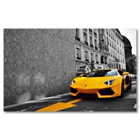 Αφίσα (lamborghini Aventador LP700, κίτρινος, αυτοκίνητο, μαύρο, λευκό, άσπρο)